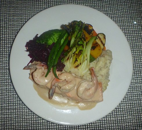 Issacs : Issac's Salmon with Vegetable Medley