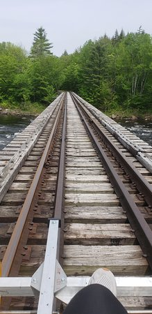 Revolution Rail: Here's the view from the bike right as you ride the tracks over the Hudson River!
