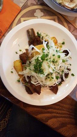 NAVAT: Kurdak ( fried lamb with potato and onion )