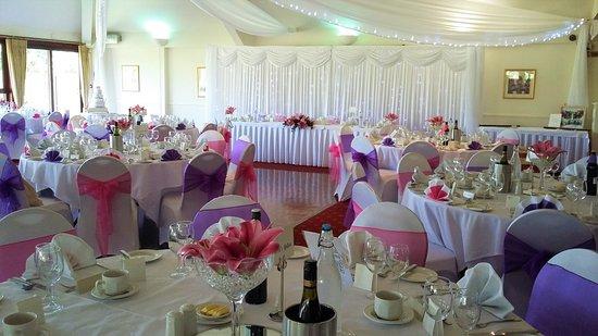 Headcorn, UK: Draped Wedding Breakfast
