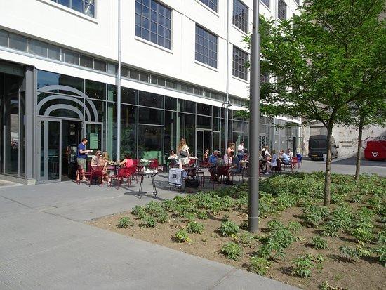 The Student Hotel Maastricht: Terrasse de la salle à manger