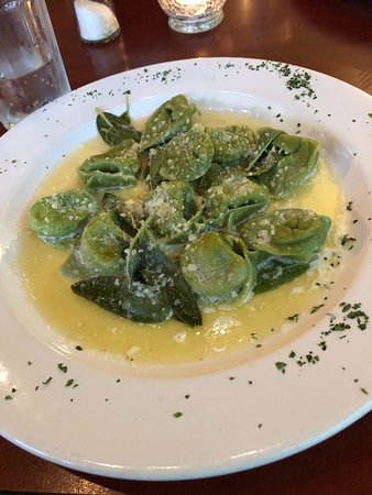 Luna Trattoria: Butternut and Acorn squash tortellini with a sage butter sauce. Yummy!