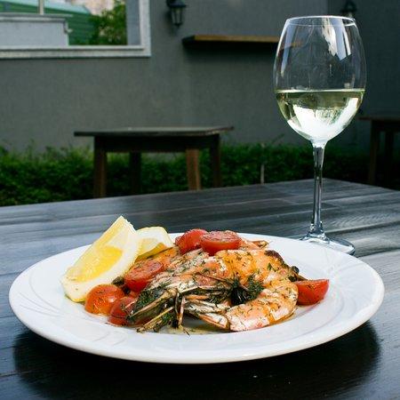 Shrimp specialty with Chardonnay