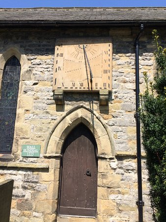 Eyam Parish Church of St Lawrence : Sundial clock (sorry not the best picture of it!)