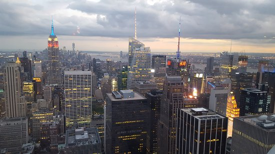 Sommet du Rocher : Twilight from Top of the Rock