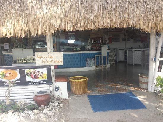 BOOgils Sunset Bar: Le restaurant.