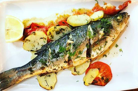 Gran Aladino: Fresh sea bass in the oven !