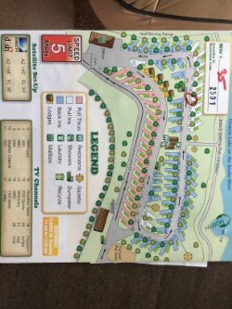 Premier RV Resort at Granite Lake: Site Map