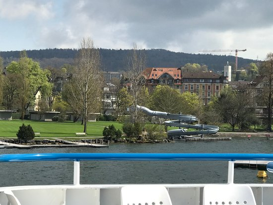 Lake Zurich: The water slide you see on the way to a stop