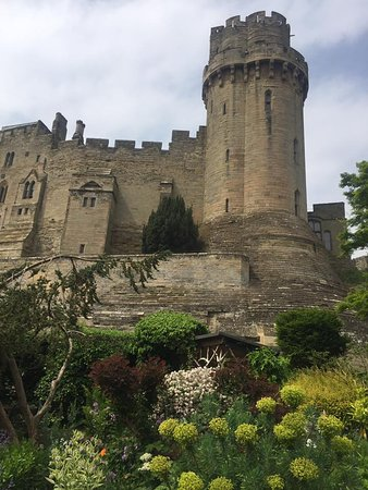 The Mill Garden: View of Warwick Castle at Mill Garden.