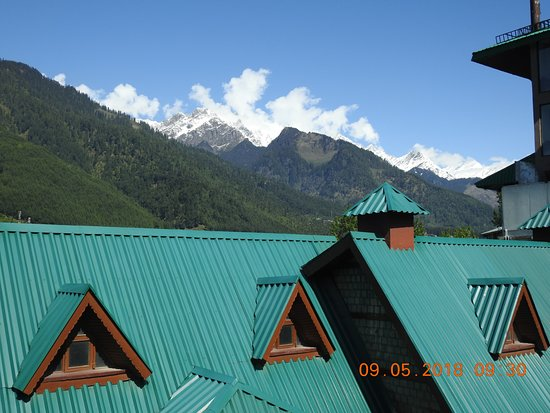 White Meadows - Manali: View from the resort balcony