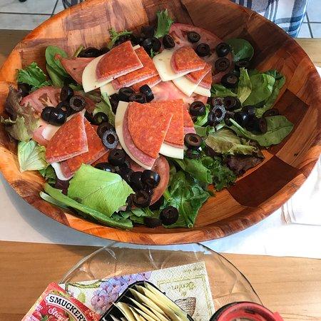 Margaretville, NY: Cobb Salad And Antipasto Salad