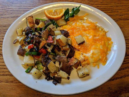 Crestline, CA: Standard 2 Egg Breakfast with Cheddar Cheese