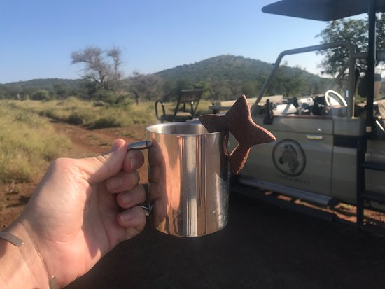 Zebra Hills Safari Lodge: Coffee and a cookie