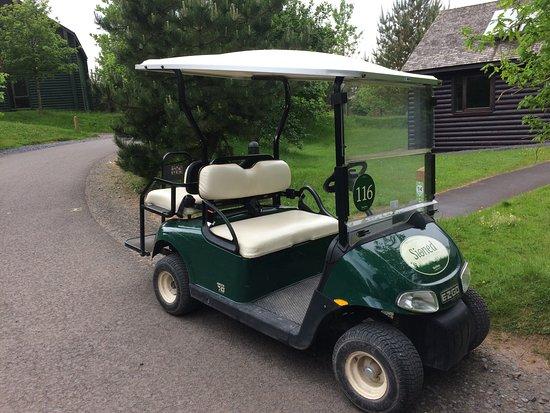 Bluestone National Park Resort: Buggy parked outside lodge