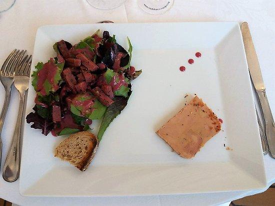 Restaurant de l'Hôtel Joly: Hotel Joly: foie gras et allumettes de canard
