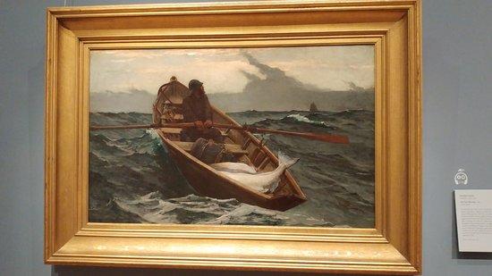พิพิธภัณฑ์วิจิตรศิลป์: Winslow Homer: The Fog Warning (1885) you can just FEEL the storm!