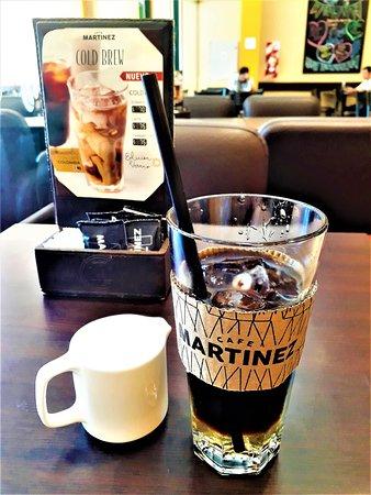 Cafe Martinez: The Café Cold Brew Caramel Latte before the milk