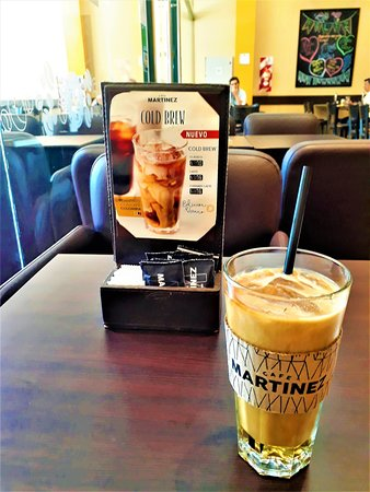 Cafe Martinez: The Café Cold Brew Caramel Latte after the milk kicked in