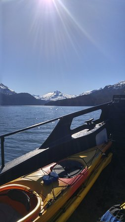 Coldwater Alaska: Ferrying our kayaks and camping gear across the Kachemak Bay