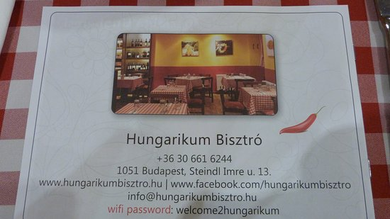 Hungarikum Bisztro : Hungarikum Bisztró