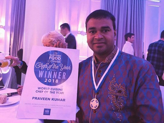 Tabla Authentic Indian Restaurant: Wining The Scottish Food Award - World Cuisine Chef of the year -2018