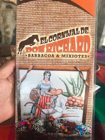 El Cornijal De Don Richard: Carta