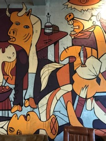 "Duende Restaurant & Tapas Bar: World famous Picasso painting ""the guernica"""
