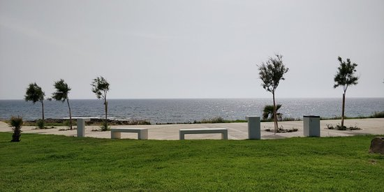 Amphora Hotel & Suites: This is the hotel outside private park and the sea view