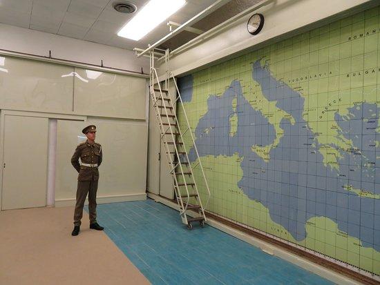 War HQ Tunnel: nato map