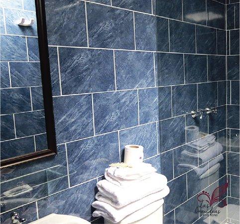 Ecohotel Las Orquideas: Baño de habitación
