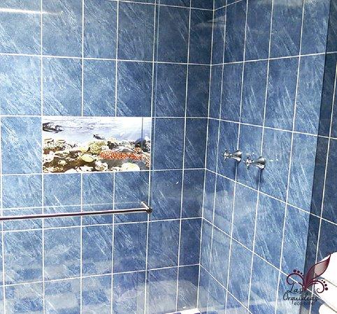 Ecohotel Las Orquideas : Baño de la habitación