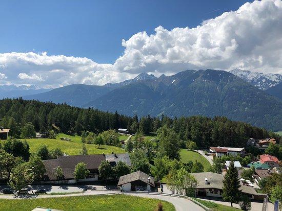Mosern, Østerrike: Aussicht vom Zimmer auf die Berge
