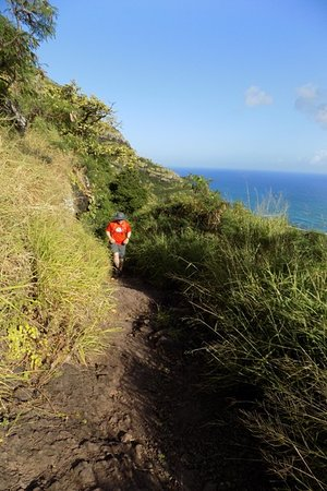 Mokuleia, HI: First Portion of Hike up to Picnic Shelter