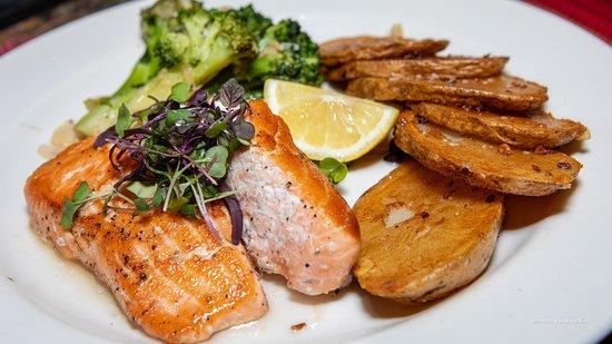 K Rico Steakhouse : Sarah's Favorite Salmon Dinner :-) @ K Rico