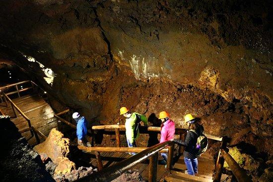Parque Cuevas Volcánicas : O interior