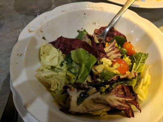 Sant' Ambrogio: Delicious salad