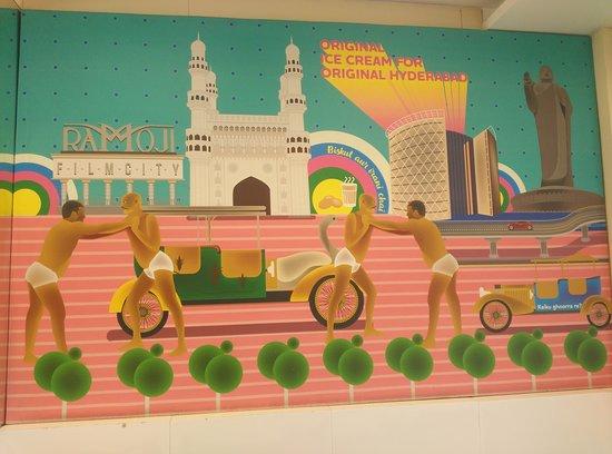 Natural Ice Cream - Jubilee Hills : Hyderabadi Painting