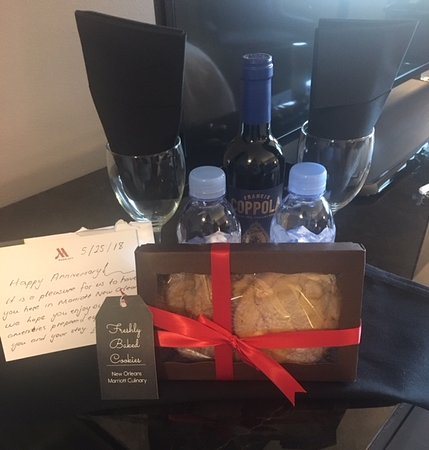 New Orleans Marriott: gift from hotel