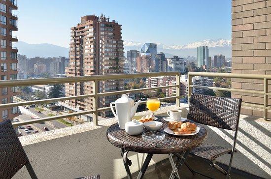 Norus Apartments Las Condes: Terraza/balcón