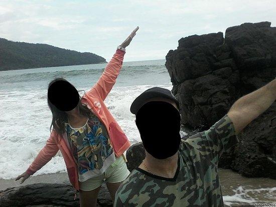 Juquehy Beach: rocas y mar