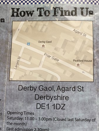 Derby, UK: The map may be misleading. Enter from AGARD St.