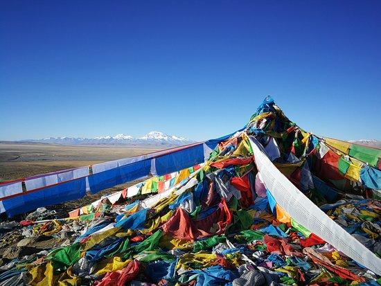 Tibet Travelers: Beginning of Mount Kailash khora, view of the Gurla Mandhata
