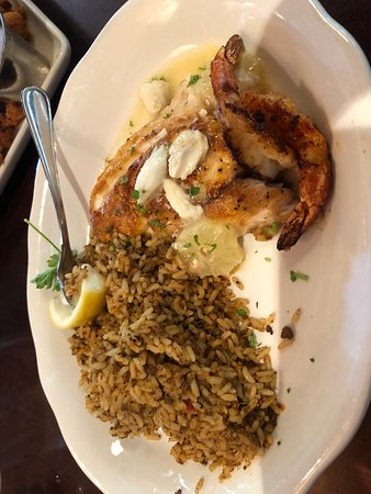 Texas redfish with cajun shrimp and red rice - Picture of ...