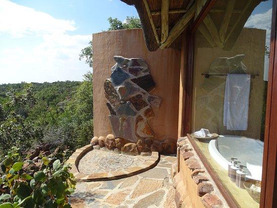 Welgevonden Game Reserve, Güney Afrika: Aussendusche