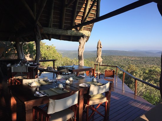 Welgevonden Game Reserve, Güney Afrika: Terrasse (Frühstück / Lunch / Dinner)