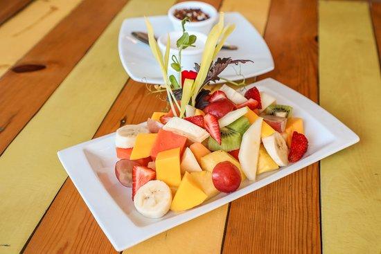 Clorofila : Plato de frutas