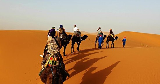 Morocco Time Travels: Camel ride in Merzouga Sahara desert