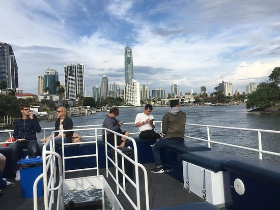 Gold Coast 1.5-Hour Sightseeing River Cruise from Surfers Paradise: On board the cruise.. it was not very crowded either.