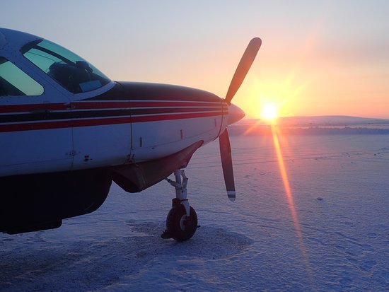 Ravn Alaska: Waiting in Mekoryuk to depart